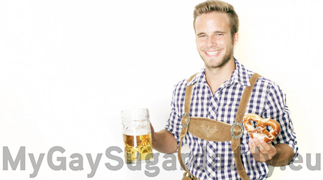 Schwule Männer auf dem Oktoberfest